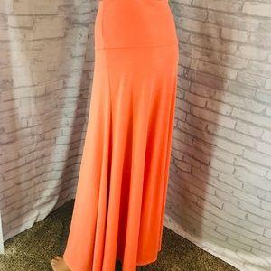 Lularoe Long Maxi Skirt Size Medium Orange